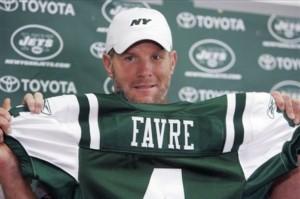 Brett Favre Jets Football